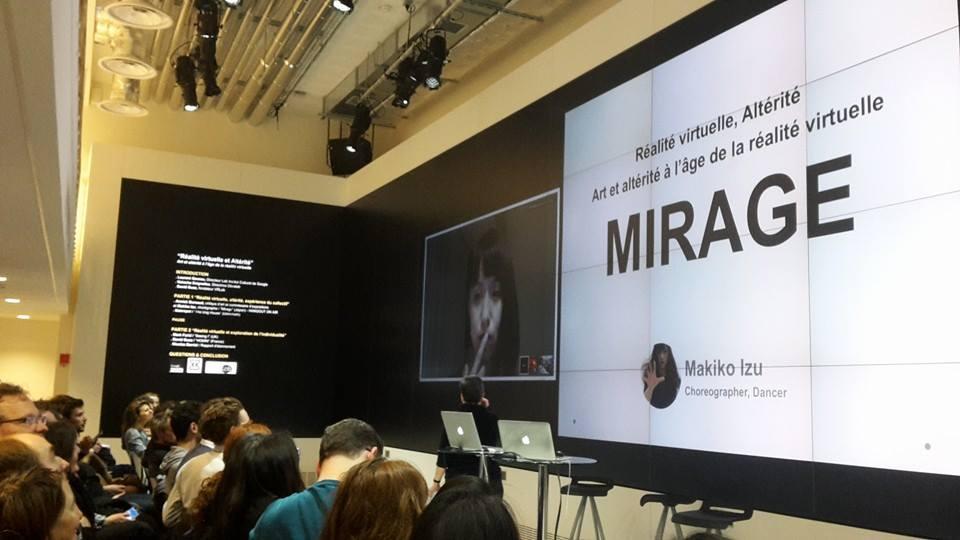 Makiko Izu au Lab de l'Institut Culturel de Google, Paris, 2015