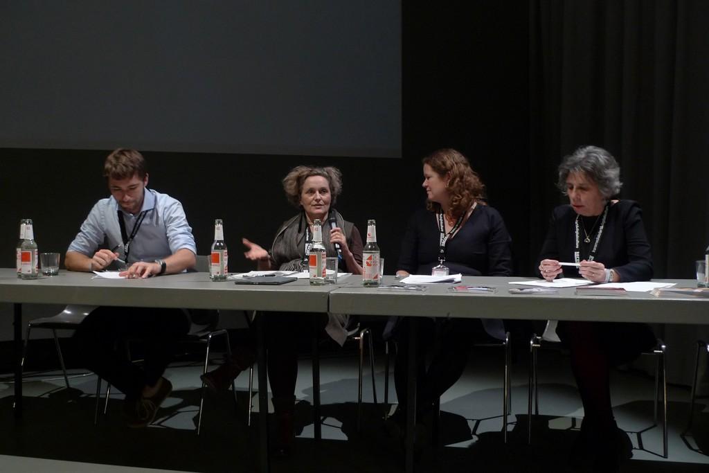 Le comité d'éthique réuni à Transmediale  (photo Lucas Evers)