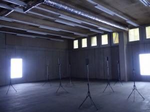 """VideoSculpture XXII (Everything Now is Measured by After)"", Emmanuel Van der Auwera, 2016, image Annick Bureaud"