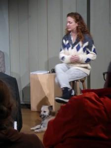 Maja Smrekar et Ada, 16 novembre 2017, Waag Society, Amsterdam. Photo A. Bureaud