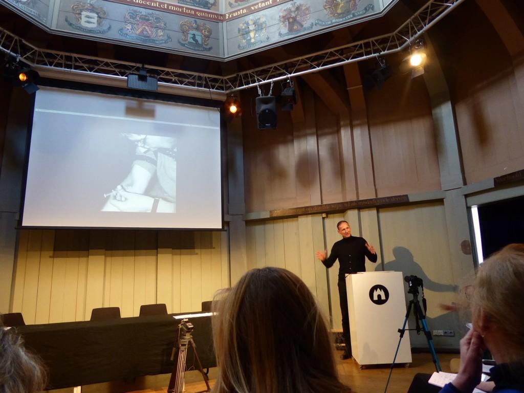 Jurij Krpan, 17 novembre 2017 Waag Society Amsterdam Photo : A. Bureaud