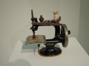 """Make Do and Mend"", Anna Dumitriu, toy sewing machine"