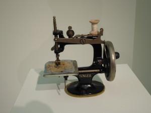 """Make Do and Mend"", Anna Dumitriu, toy sewing machine"