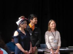 Dawn Faelnar, Kenneth Azurin & Christa Sommerer (une partie de la Leonardo Slam Team)